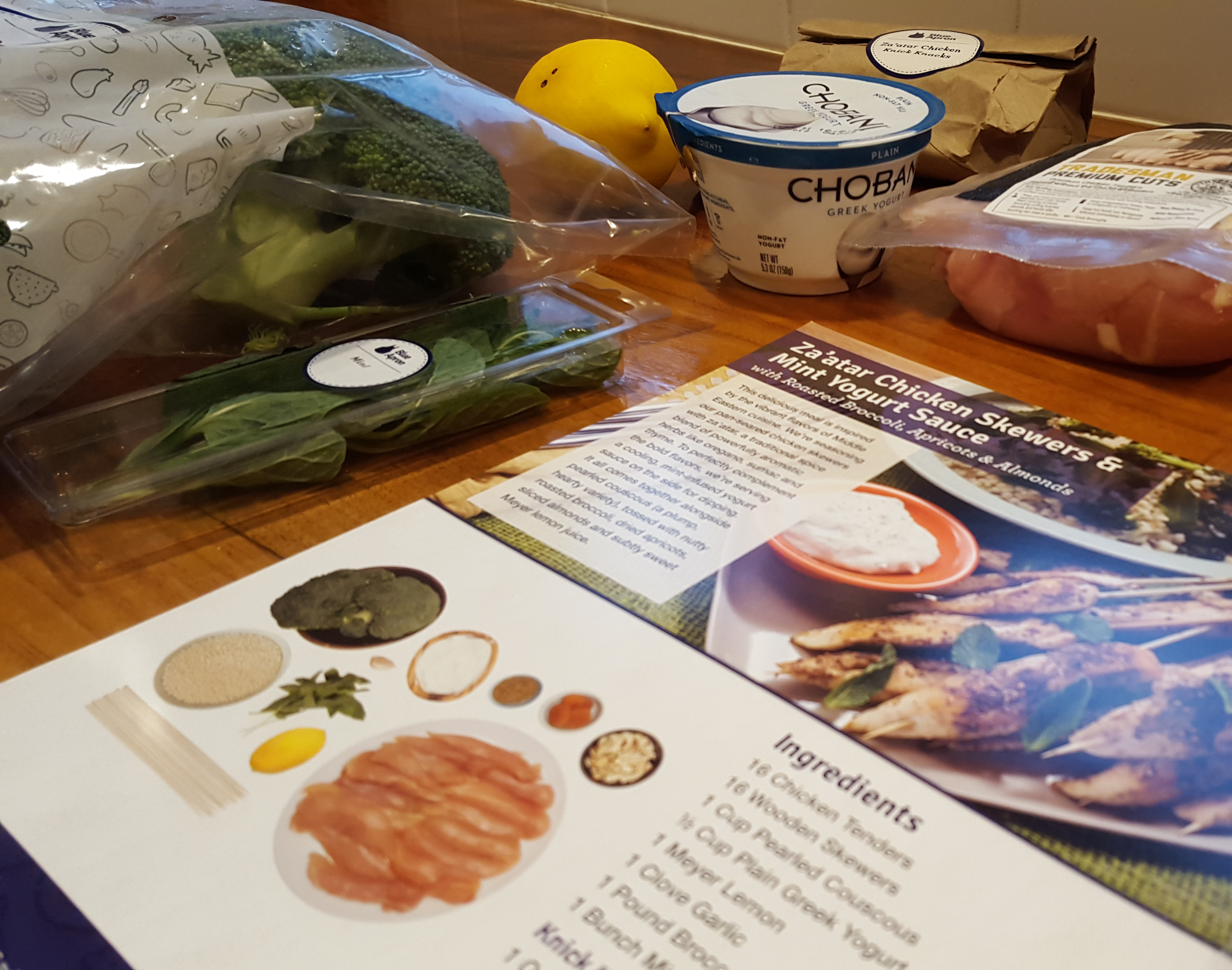 Blue apron yogurt sauce - Blue Apron Za Atar 2
